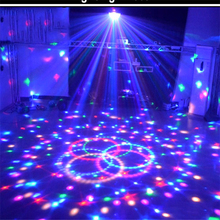 цены Stage Lamp Led Disco Light Laser 9 Colors 21 Mode Disco Laser Light Party Lights Sound Control Crystal Magic Ball Led Stage Lamp