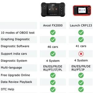 Image 5 - Ancel FX2000 Professional OBD2 เครื่องสแกนเนอร์ ABS SRS ถุงลมนิรภัยการวินิจฉัยเครื่องมือ OBD 2 diagnostics OBD Scanner