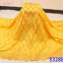 Ткань с камнями и кружевной вышивкой материал для платья в нигерийском