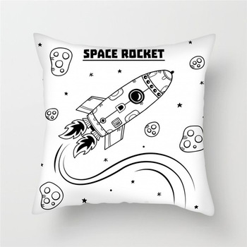 Space Rocket Cushion Cover    1