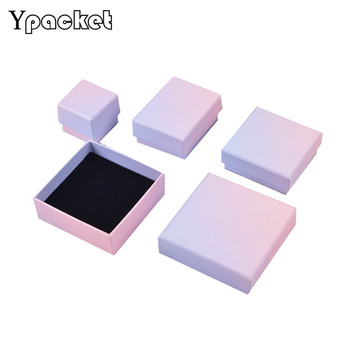 0pcs/lot Color Box For Jewelry  Quality Square Jewelry Organizer Box Rings Storage Box Gift Box For Necklace Pendant