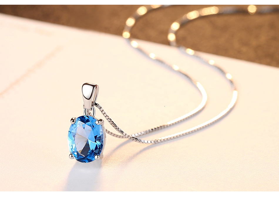 H1ed109072cd5490c82f81456a264c9c0N CZCITY Sky Blue Topaz Stone Pendant 2.3 Carat Oval Shape Solitaire Natural Topaz 925 Sterling Silver Chain Necklace for Women