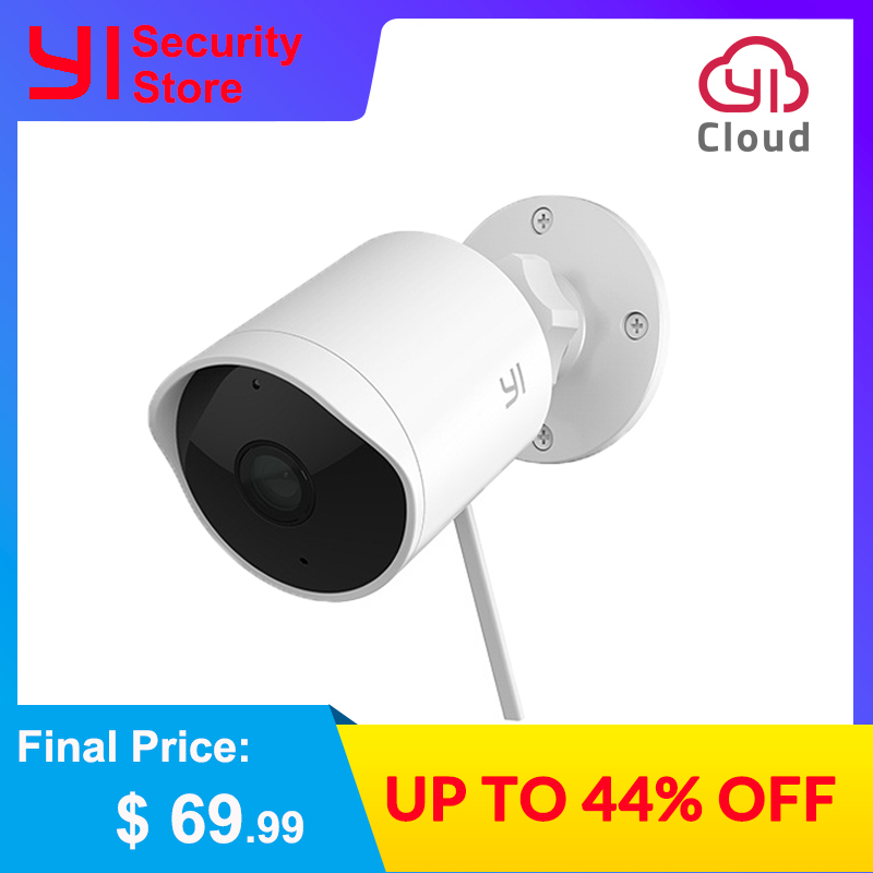 YI Outdoor Security Camera 1080P Waterproof Night Vision Wireless IP Resolution Security Cam Surveillance System Global Cloud