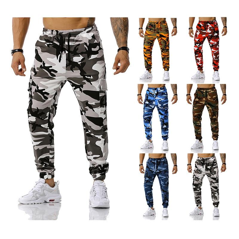 Pantaloni Cargo mimetici mimetici uomo pantaloni lunghi Multi tasche in cotone Casual pantaloni Hip-Hop tuta urbana pantaloni tattici militari