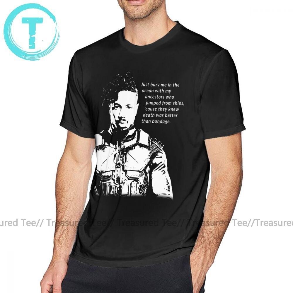 Bury Me In The Ocean With My Ancestors Men/'s Black Tshirt Tees Clothing
