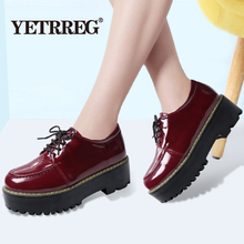 Brand New Spring Autumn Solid Flat Women Shoes Patent Leather