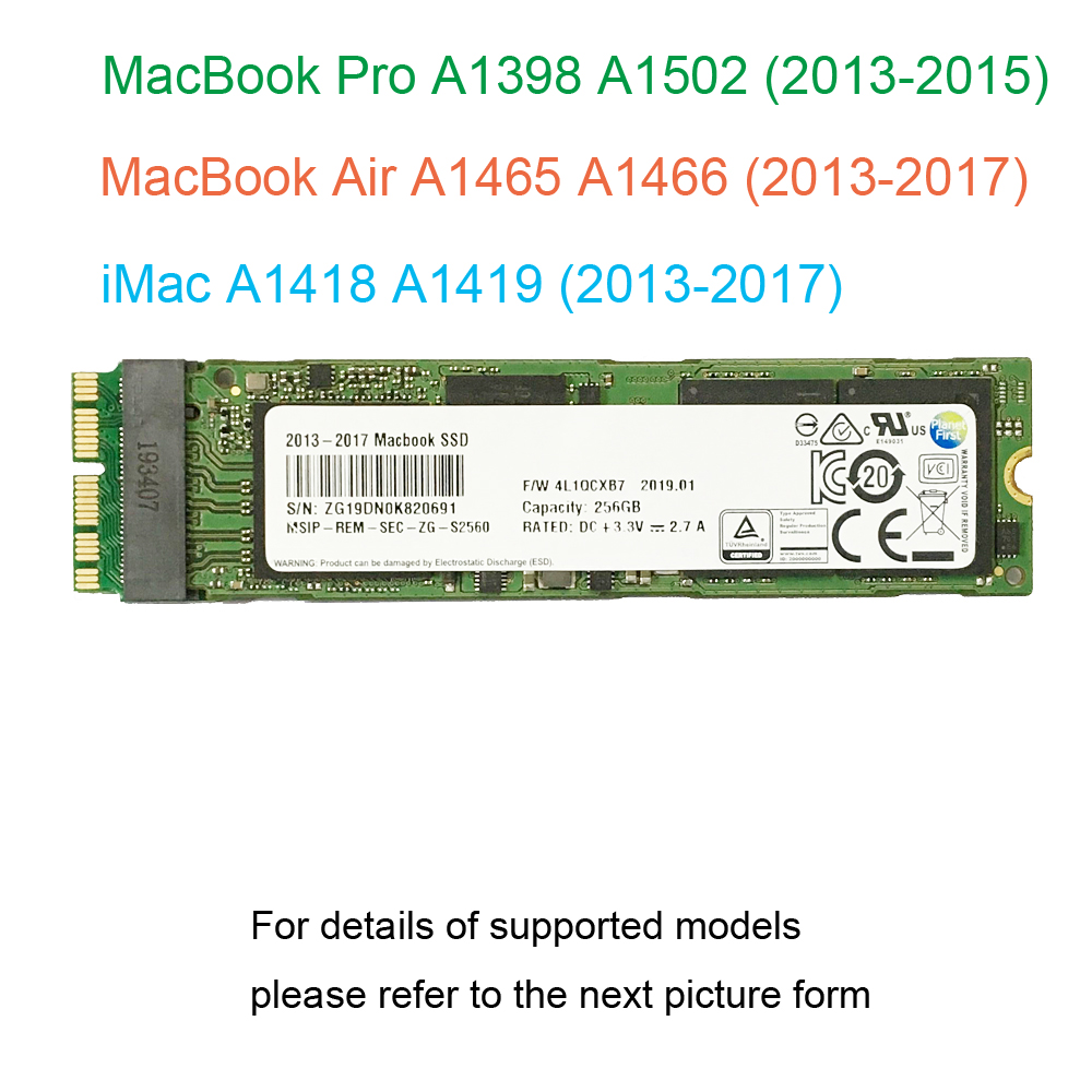 128GB 256GB 512GB 1TB SSD For 2013 2014 2015 2017 Macbook Air A1465 A1466 For Macbook Pro Retina A1398 A1502 Solid State Drive(China)
