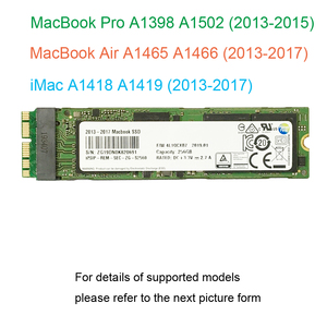 Image 1 - 128GB 256GB 512GB 1TB SSD For 2013 2014 2015 2017 Macbook Air A1465 A1466  For Macbook Pro Retina A1398 A1502  Solid State Drive