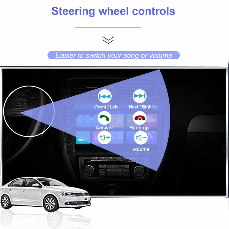 車家族 Autoradio 2 Din 7 インチ HD タッチスクリーンの Bluetooth カーラジオプレーヤー Aux リアビューカメラミラーリンク 7018B カーオーディオ