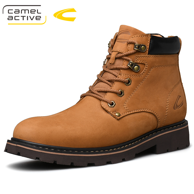 2020 New Men's Dynamic Men's High Top Boots  Real Leather Shoes Outdoor Shoes Casual Shoes Tooling Shoes Martin Boots