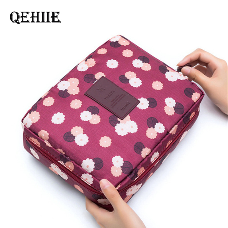 Hot Sale New Women Travel Cosmetic Bag Nylon Multifunction Makeup Bags Waterproof Portable Toiletries Organizer Make Up Cases