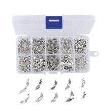 100Pcs Assorted 10 Styles Angel Wings Bead Charm DIY Jeweler Findings Charms Jewelry Accessories for Necklace Bracelets