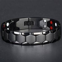 Large Mens Bracelet 3 IN 1 Health Energy Bangle Arthritis Tw