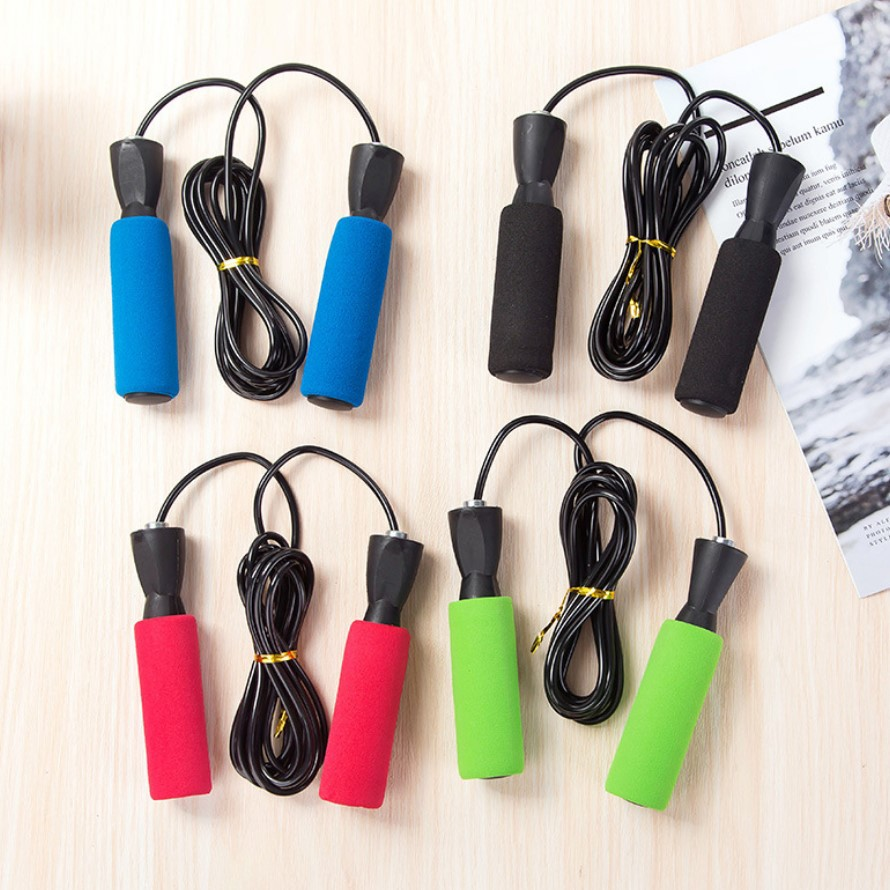 Cotton Cover Bearing Rubber Jump Rope Adjustable Length Adult Children Students Game Athletic Fitness Jump Rope