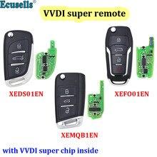 Xhorse xeds01en/xefo01en/xemqb1en vvdi super remoto com xt27 xt27a66 chip trabalho para vvdi2/vvdi mini ferramenta chave/ferramenta chave vvdi max