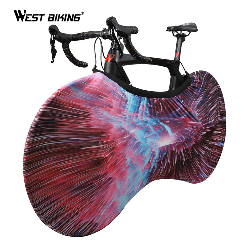 WEST BIKING Bicycle Cover Indoor Bike Wheels Cover Storage Bag Bike Accessories Dustproof Scratch-proof Cycling Protect Cover