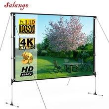 Открытый экран для проектора с подставкой 100 дюймов 16:9 8K 4K Ultra HD 3D быстрый складной портативный Крытый проекционный экран
