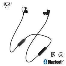Kz fone de ouvido wireless bte 1dd + 1ba, fone de ouvido aptx esportivo com bluetooth/grave, headset para celular e música fone de ouvido