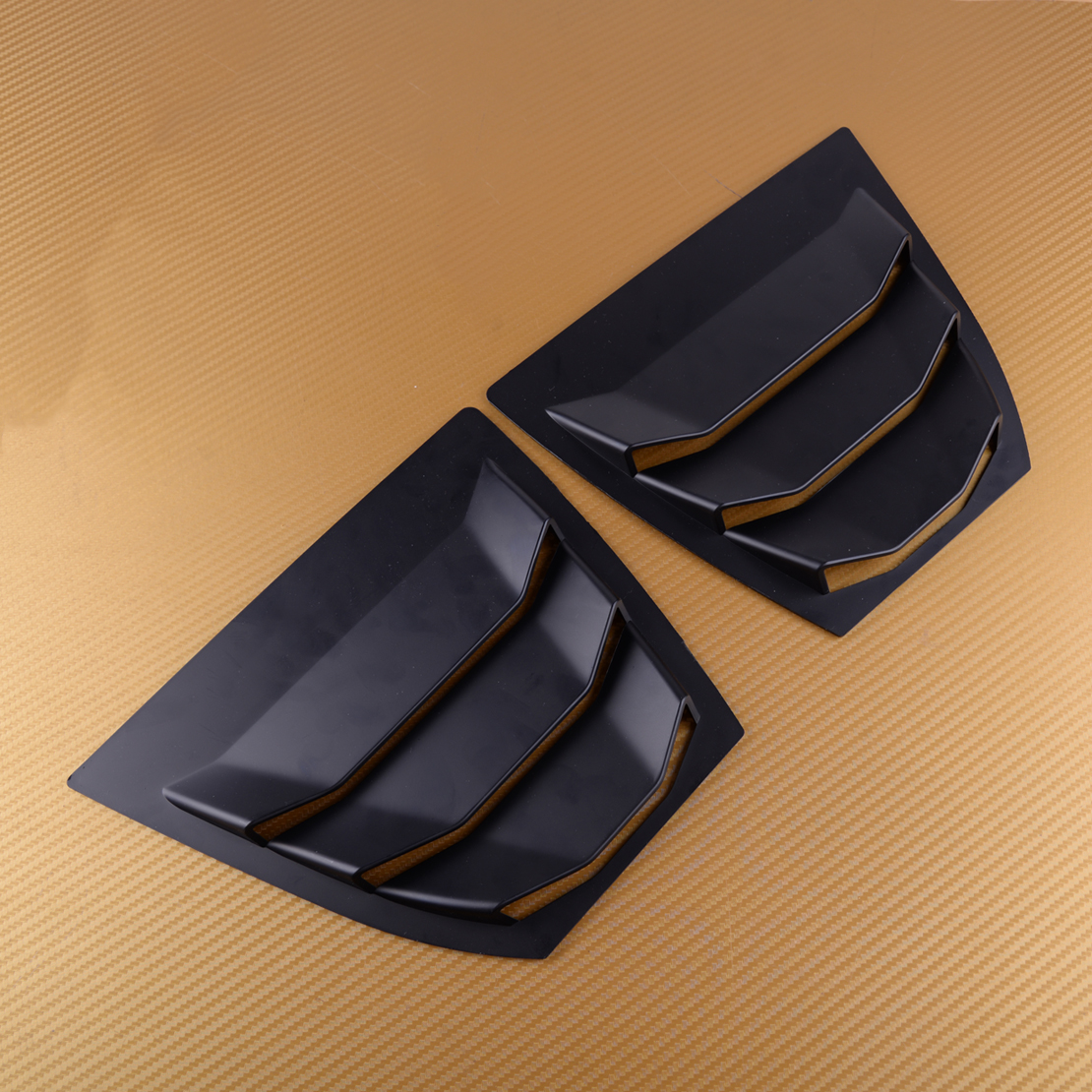 CITALL Black ABS Rear Side <font><b>Window</b></font> Louver Vent Trim Panel Stickers Cover Car Styling Fit For <font><b>Mazda</b></font> <font><b>3</b></font> Axela 2014 <font><b>2015</b></font> 2016 2017 image