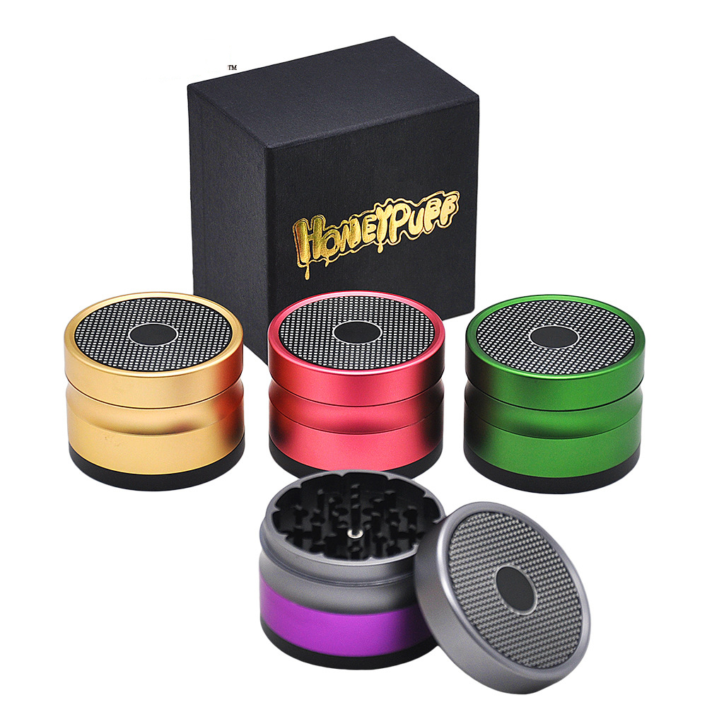 63 MM 4 Layers Tobacco Grinder Ancient Shape Herb Grinder Aluminum Spice Crusher grinder Tobacco Grinder 5