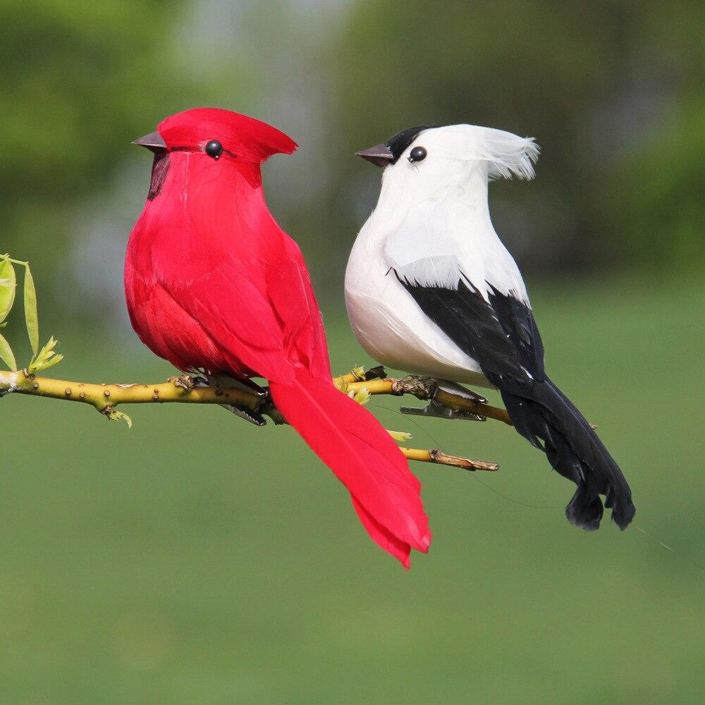 perroquets artificiels en plumes et mousse plumes creatives imitation d oiseau modele d oiseau decoration pour jardin maison exterieur