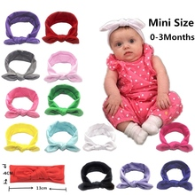 Solid Color Baby Headbands For Newborn Hair Band Cute Baby Bow Flower Elastic Bow Headwear Kids Gifts Girl Hair Accessories 0599