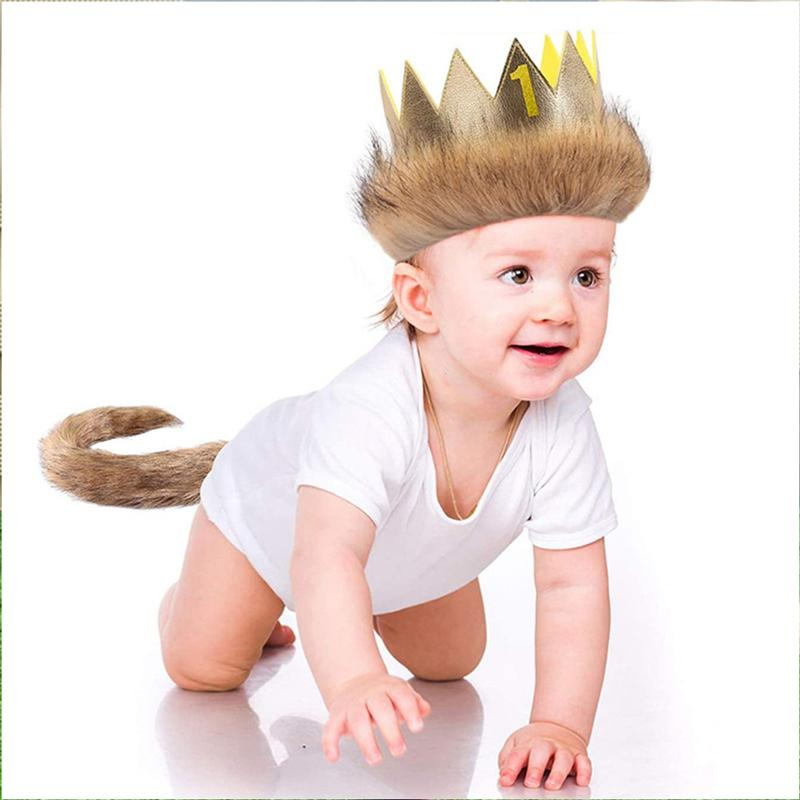 Baby Birthday Costume Set Toddler Crown And Tail Kit Party Decorations Photography Prop Baby Memorial Photo Accessories