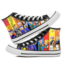 Mazefeng Sneakers Men Women's Anime Print Canvas Shoes Desig