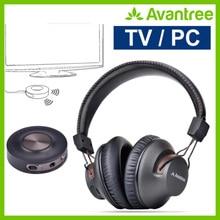 Беспроводные наушники Avantree для телевизора с bluetooth-передатчиком, Plug& Play, без задержки синхронизации губ, большой радиус действия, 40 часов батареи