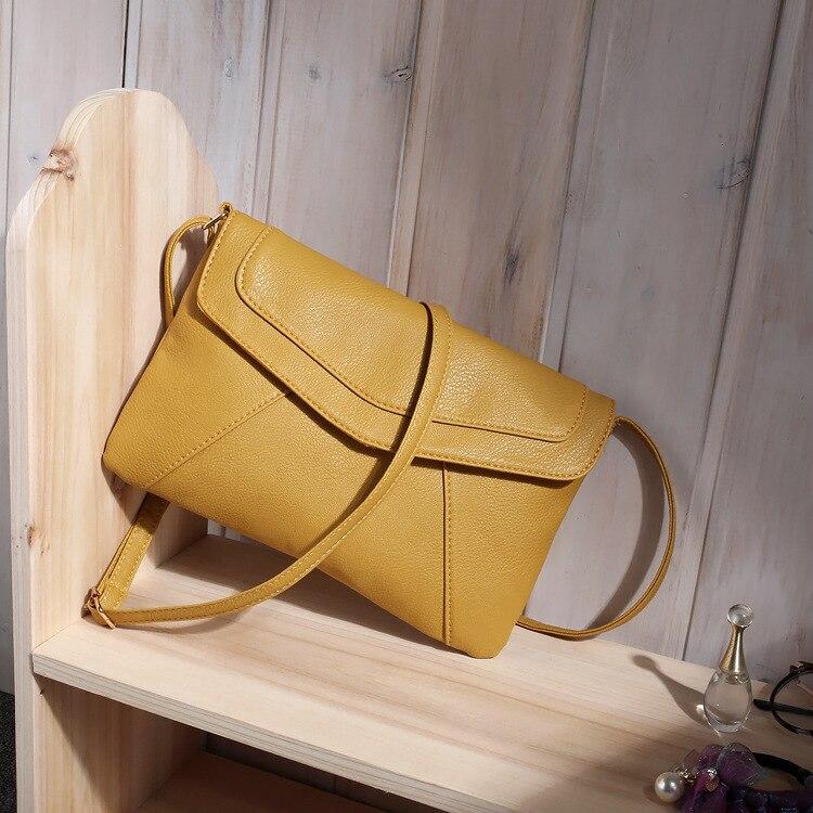 Маленькие сумки для женщин сумки-мессенджеры кожаные женские Newarrive милые сумки через плечо винтажные кожаные сумки Bolsa Feminina - Цвет: Yellow