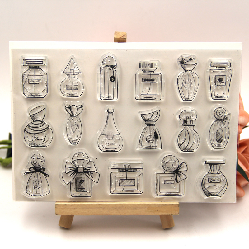 ZFPARTY Perfume Bottles Transparent Clear Silicone Stamp For DIY Scrapbooking/photo Album Decorative Card Making
