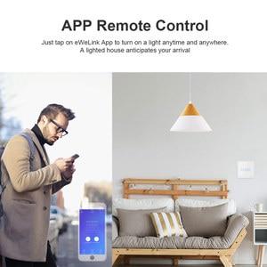 Image 2 - Itead SONOFF TX T2/T3 ue inteligentne wifi ścienny dotykowy przełącznik oświetlenia inteligentny dom 1/2/3 Gang 433 RF/głos/APP/sterowanie dotykowe praca z Alexa