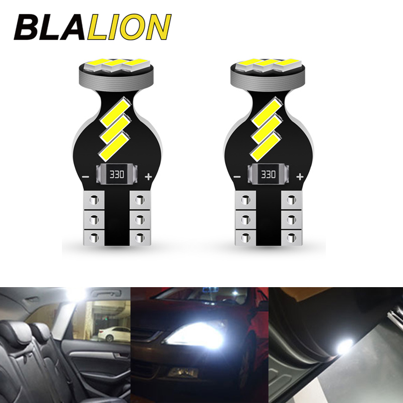 2/10pcs Car Led T10 Bulb 4014 SMD No Error Canbus 12V Auto Lamp for Dome License Plate Lights Tail Box Lamp Car Interior Lights