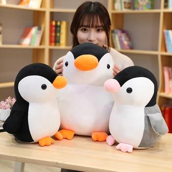 Nuevos juguetes de peluche de pingüino suave Huggable, muñecos de peluche para niños, decoraciones de juguete para niños, regalo de cumpleaños para niños