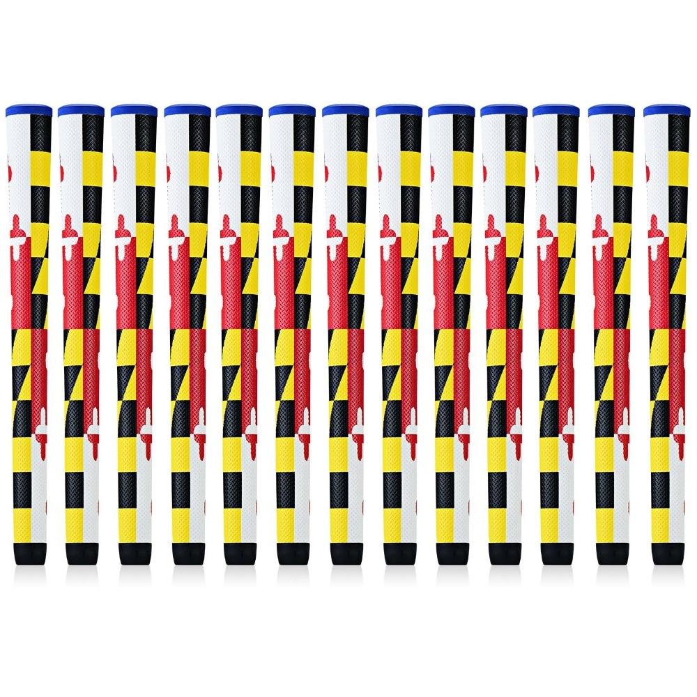 NEW 8x Marryland Flag High-tech PU Leather Golf Grip Standard Midsize Club Grips