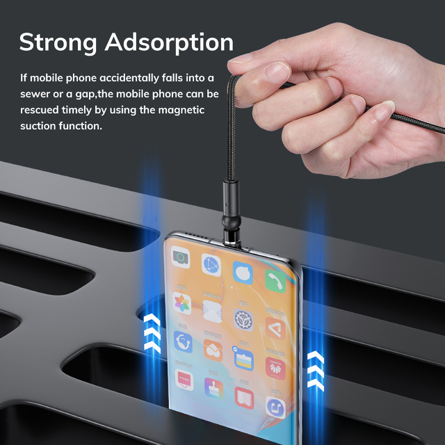 TOPK 540 Rotate Magnetic Cable Micro USB Type C Cable Magnetic Charging Charger Cable For iPhone 11 Pro XS Max Samsung Xiaomi 5