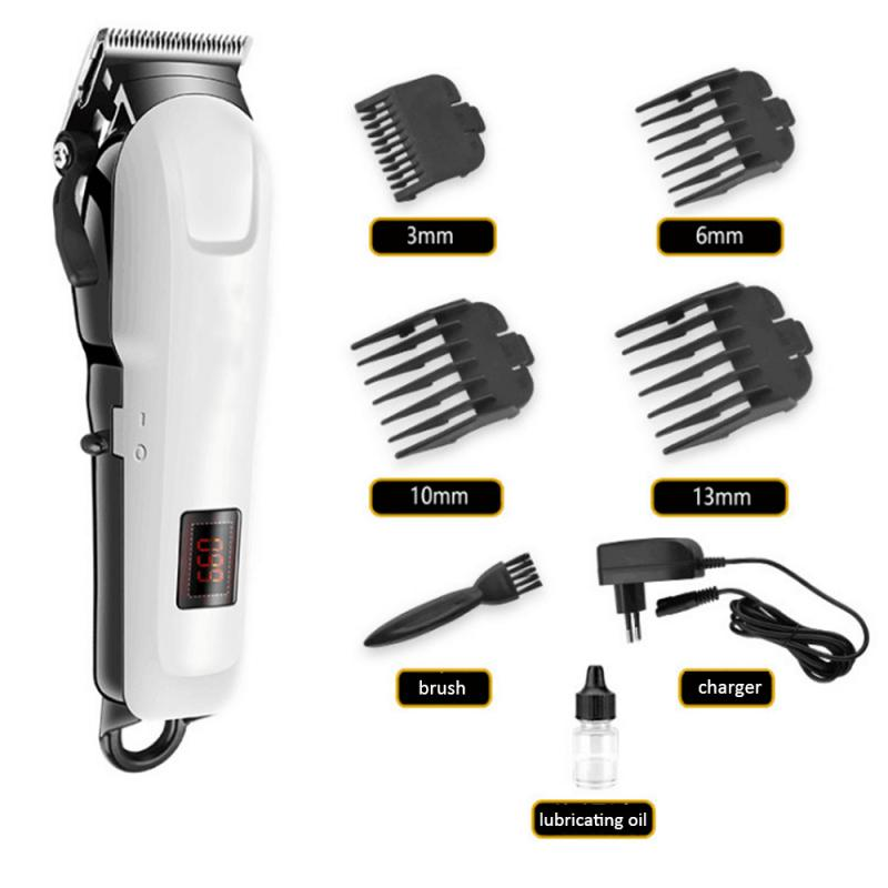 Kemei KM-809A Professional Rechargeable Electric Haircut Machine LCD Display Hair Clipper Makeup Beauty Cosmetics Tool TSLM1