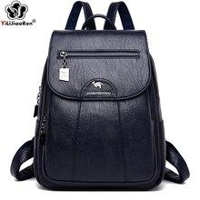 Fashion Backpack For Ladies Shoulder Bag Soft Leather Backpack Women Travel Bag Large School Bags For Teenage Girls Sac A Dos