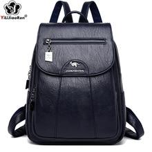 Moda mochila para senhoras bolsa de ombro de couro macio mochila feminina saco de viagem grandes sacos de escola para adolescentes sac a dos