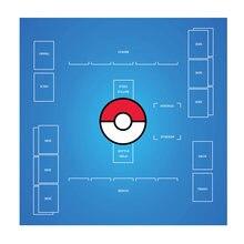 2 jogador pokemon trainer playmat-60x60 cm confronto pokemon cartões de negociação jogo de cartas jogar esteira brinquedos