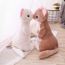 1pc 50cm doce simulação furão brinquedo de pelúcia macio dos desenhos animados animais mustela putorius furo bonecas quarto decoração casa presente