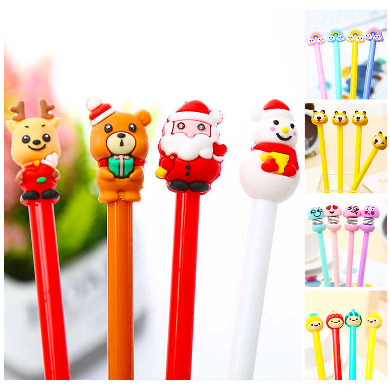 Cartoon Leuke Kawaii Magic Emotie Hond Regenboog Fruit Gel Pen Anime Grappig Cool Kids Christmas Gift School Office Supply Stationair