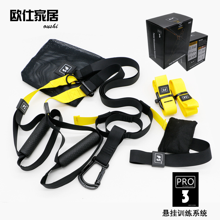 Resistance Bands Hanging Belt Sport Gym Workout Fitness Suspension Exercise Pull Rope Straps Trainer Belt For Adults image