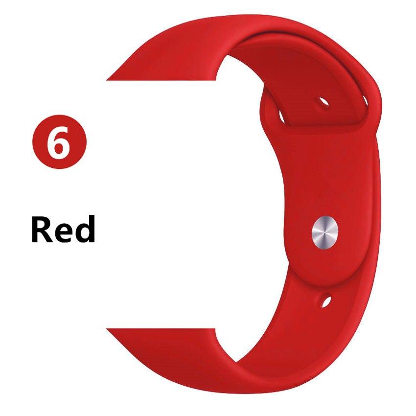 Ремешок для apple watch band 44 мм/40 мм iwatch band 5 4 42 мм 38 мм correa pulseira watch band для apple watch 5 4 3 браслет 44 мм - Цвет ремешка: Red