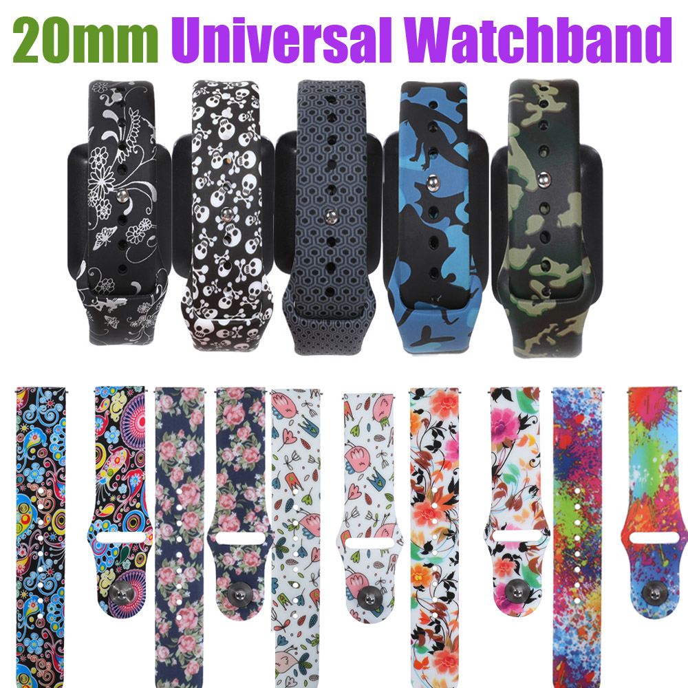 20mm Universal Strap Compatible For Huawei Watch 2 Amazfit Bip Bit Amazfit GTR 42mm Quick Release Smart Bracelet For Ticwatch 2