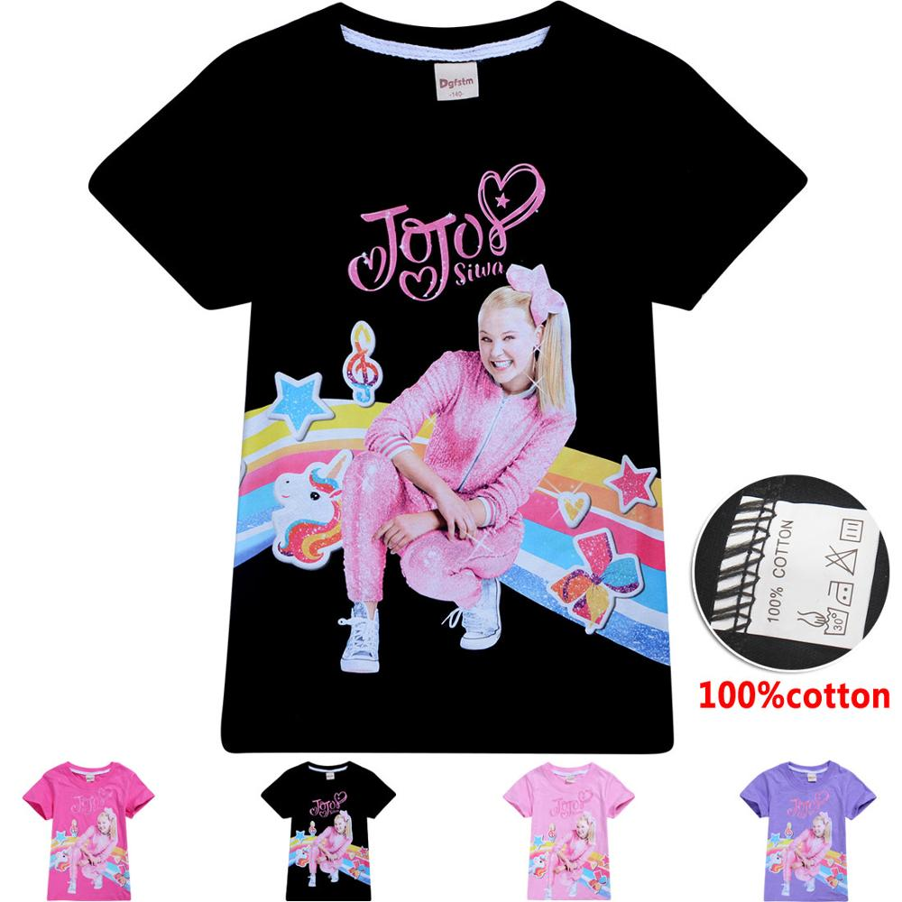 Little Girls/' JoJo Siwa Summer Short Sleeve T-Shirt 100/% Cotton Tops kid T-Shirt