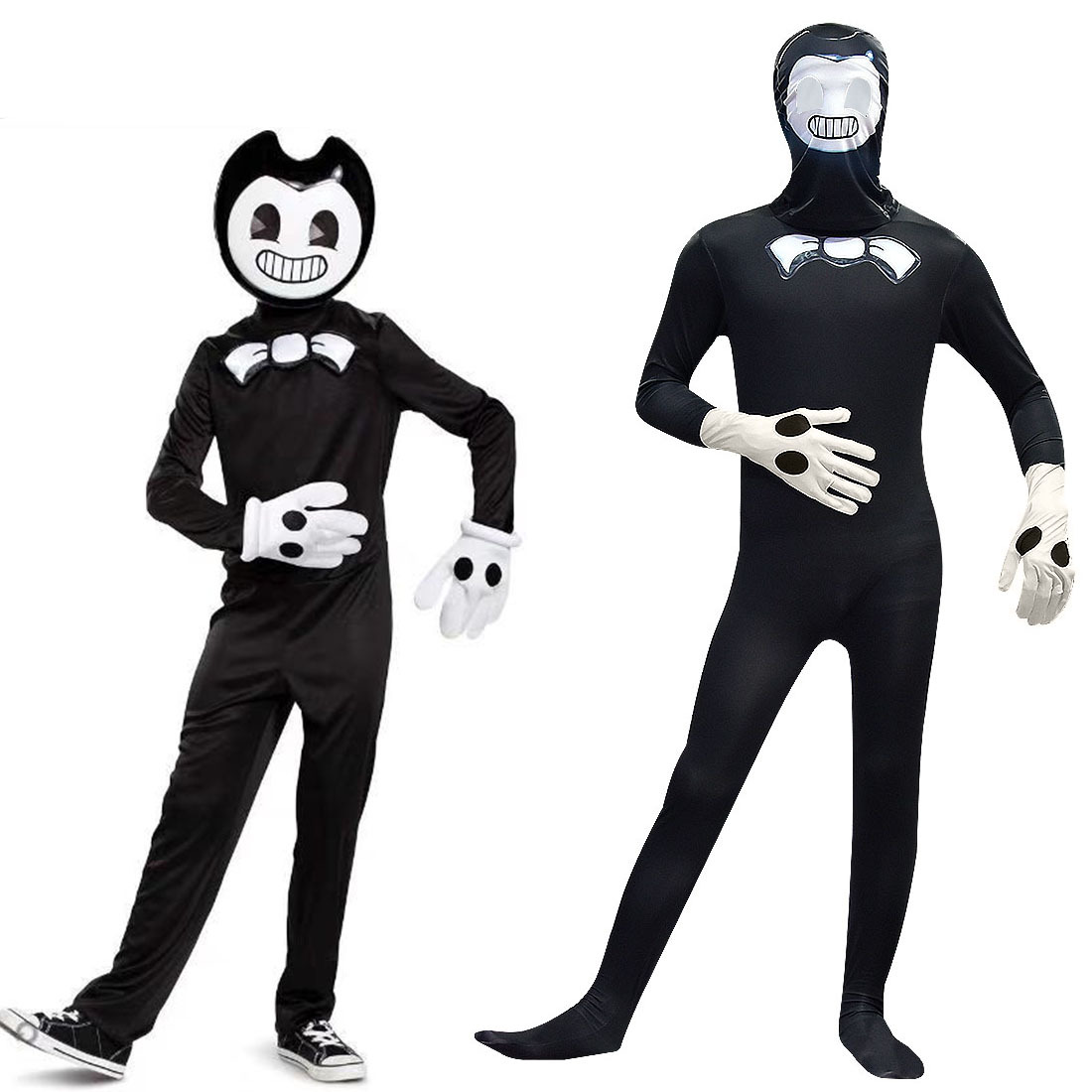 Kids Halloween Bendy And The Ink Machine Jumpsuit+Mask Costumes Teen Boys Fashion Party Cosplay Children Clothing Sets C46600CH