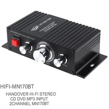 60W Bluetooth 2.0 Channel Hi-Fi Stereo Wireless Audio Power Amplifier with Sound Regulation Adjustment for TV MP3 PC DVD Speaker