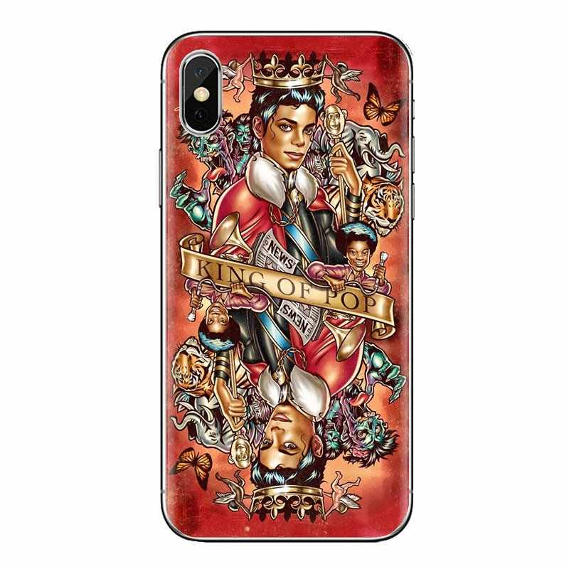 טלפון נייד כיסוי מייקל ג 'קסון מלך ריקוד לxiaomi Mi3 סמסונג A10 A30 A40 A50 A60 A70 Galaxy S2 הערה 2 גרנד ליבה ראש
