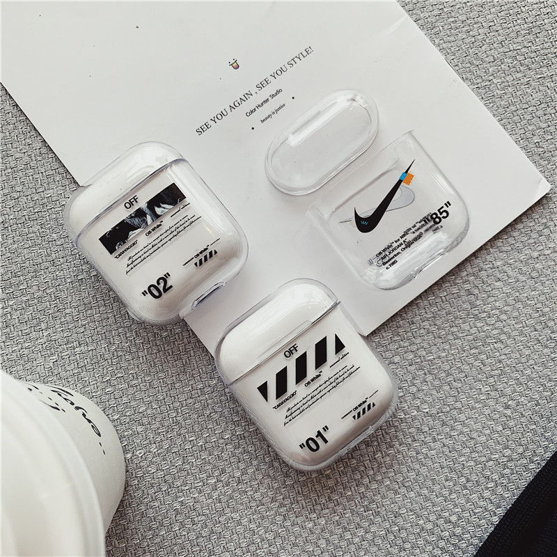 Off White Hype Luxury Inspired Airpods 1 2 Pro Case Headset Nike